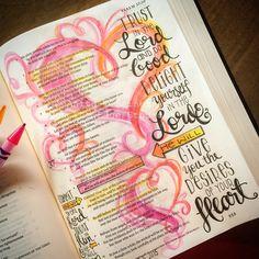 Bible Journaling - Trust - documented life - Trust-www.stampwithanita.com Psalm 37:5-6 - www.stampwithanita.com