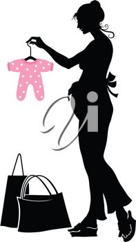 iCLIPART - Vector illustration of pregnant woman shopping for her baby. Pregnant Cartoon, Fearfully Wonderfully Made, Vinyl Shirts, Maternity Wear, Getting Pregnant, Art Images, Illustration Art, Illustrations, New Baby Products