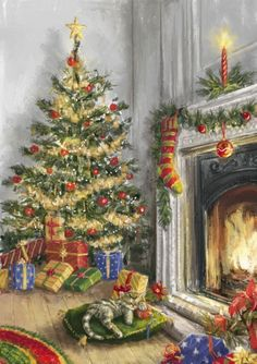 Christmas pictures by Jessie - Posts Vintage Christmas Images, Old Fashioned Christmas, Christmas Scenes, Christmas Past, Christmas Pictures, Christmas Greetings, Winter Christmas, Christmas Crafts, Christmas Decorations