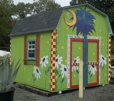 Painted shed at Reeses plants.