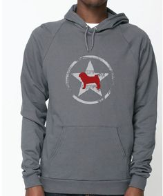 Is your #pug and #allstar? Righteous Hound - Unisex Allstar Pug Hoodie, $42.00 (http://www.righteoushound.com/unisex-allstar-pug-hoodie/)