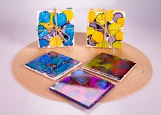 Clinton's Craft Corner: Ink Dye Coasters And Paint Chip Calendar - The Chew - ABC.com