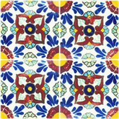 Talavera Tile - Mexican Connexion for Tile This is a pretty pattern