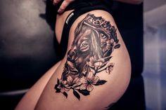 Lion tattoo florynez inked tattoo for girls crown tattoo