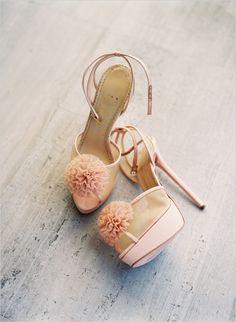 pretty pink wedding shoes #wedding shoes #pinkheels #weddingchicks http://www.weddingchicks.com/2014/01/20/party-light-wedding/