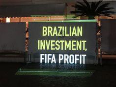 احتجاج أمام مقر الفيفا في البرازيل يكشف حقائق كأس العالم