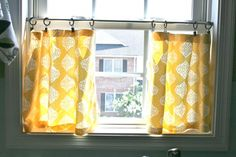 homemade kitchen curtains - I need to make curtains for ALL my windows, because I have none!