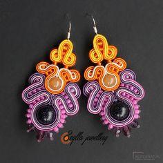 Kolorowe kolczyki sutasz Arcanum- Rainbow - Kolczyki - Biżuteria artystyczna