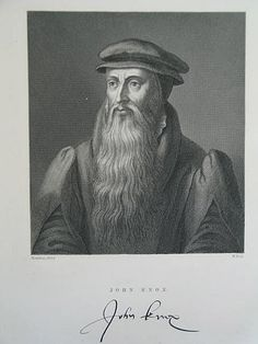 Victorian Portrait Print - John Knox - Antique Print by W Hall After Hondius 1602 (ANTPRNT003-RC/EB) - For Sale with Rhodons Collectables