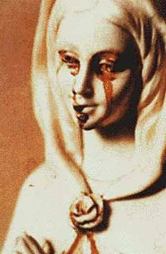 Gallery of Religious Mysteries and Miracles: Bleeding Statue of Mary Jungfrau Maria Statue, Crying Blood, Virgin Mary Statue, Mysteries Of The World, Mother Mary, Our Lady, Macabre, Madonna, Heavy Metal