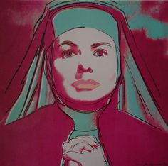 Andy Warhol, The Nun, from Ingrid Bergman, 1983✖️More Pins Like This One At FOSTERGINGER @ Pinterest✖️