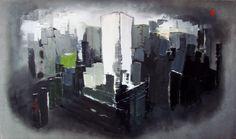 Oil on canvas 170x100 cm