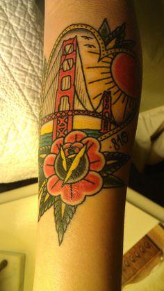 San Francisco Tattoo by Jason Donahue (Idle Hand) #tattoo #tattoos #ink #Jason Donahue