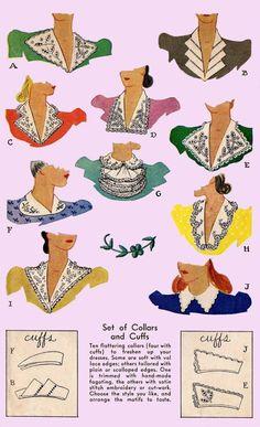 vintage collars illustrations