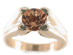 Imperial Topaz Ring Gemstone Engagement Ring by TemptingJewels
