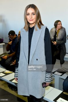 Model Olivia Palermo attends the front row for Noon by Noor during New York Fashion Week: The Shows at Gallery II at Spring Studios on February 8, 2018 in New York City.