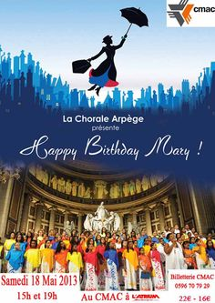"LA CHORALE ARPEGE PRESENTE ""HAPPY BIRTHDAY MARY"" A L'ATRIUM EN MARTINIQUE   Consultez l'article ici : http://www.black-in.com/sorties-loisirs/evenement/ephemere/la-chorale-arpege-presente-happy-birthday-mary/"