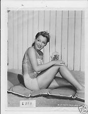 Ellen Drew busty leggy suntan lotion VINTAGE Photo