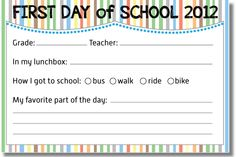 FREE Back to School 2012 Memory Card {printable}