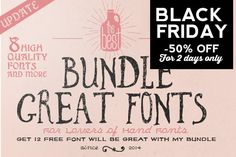 Check out Font Bundle + Bonus by bowery_Studio on Creative Market