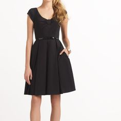 kate spade - cotton sweeney dress. lovely classic black dress