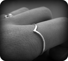Pointy ring - recycled sterling silver ring