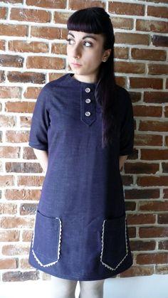 Sixties purple trapeze dress (purple Main) di MisStufiSaraForlini su Etsy