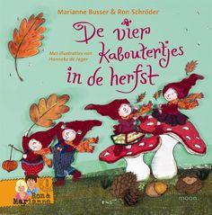 Boek: De vier kaboutertjes in de herfst Viria, Grinch, Kids, Fictional Characters, Om, School, Products, Seeds, Children