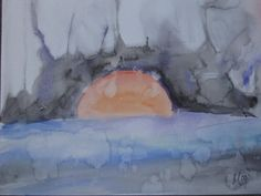 sunset- watercolor