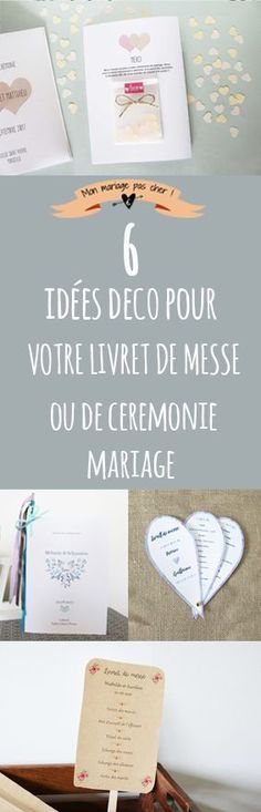 Quel format choisir pour vos livrets de messe, comment les relier et des idées déco pour épater vos invités. via @mariagepascher