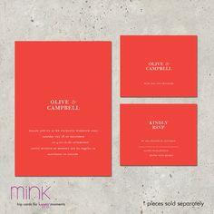 wedding invitations modern & unique Metropolitan by minkcards, $96.00