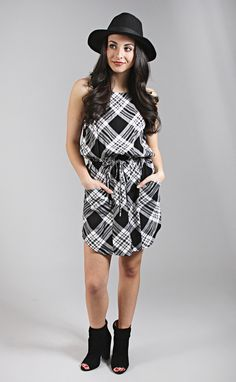 Tied Down Tartan Tank Dress
