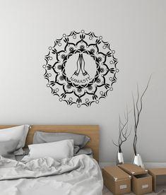 #2876di Lotus Flower Vinyl Wall Decal Yoga Center Meditation Room Interior Stickers Mural