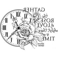 Uhr mit Rose