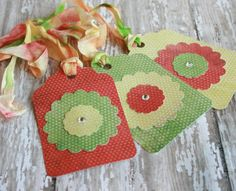 Spring Flower Tags // Easter Basket Tags by FinchnWillowBoutique, $4.50