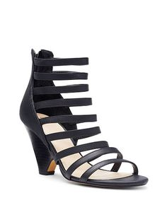 Strappy Curved Wedge