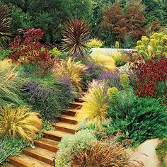 jardins em terrenos em declive