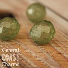 Summer Sage - Czech Glass Faceted Round Fire Polished Beads - Frosty Matte Green
