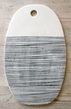 IN STOCK porcelain oval cheese tray platter door mbartstudios, $60.00