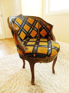 Bad Ass Chair Velvet Patent Leather Swivel 70s by FreewheelFinds, $325.00