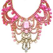 doloris petunia peony statement necklace