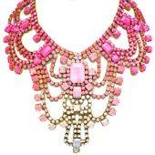 doloris petunia peony statement necklace
