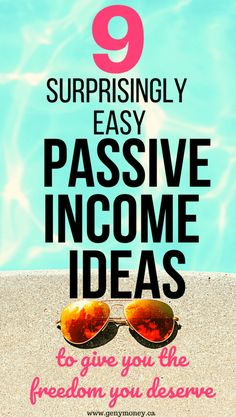A detailed look at 9 different easy ways to earn passive income in Canada through investing, real estate, credit cards, grocery store apps, and savings. Earning Money, Investing Money, Creating Passive Income, Money Saving Mom, Income Streams, Budgeting Finances, Rental Property, Finance Tips, Money Tips