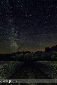 Meine ersten Gehversuche mit der Milchstraße. Aufgenommen auf dem NaturGut Katzhof