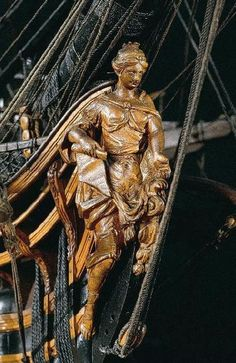 Figure de proue de l'ARTESIEN. Vaisseau 64 canons 1764.