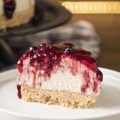 Esta Cheesecake te sacará de un apuro, es fácil y no necesita horno! Cheesecake Recipes, Dessert Recipes, Thermomix Cheesecake, Blueberry Cheesecake, Delicious Desserts, Yummy Food, Savoury Cake, Christmas Desserts, Food Cakes