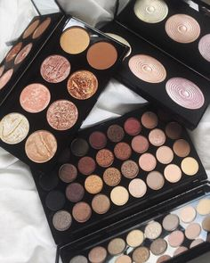 Morphe eyeshadow palette Makeup Revolution blush contour kit Makeup Revolution highlight palette