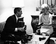 Cary Grant and Doris Day photographed by Milton Greene on the set of That Touch of Mink, 1961.