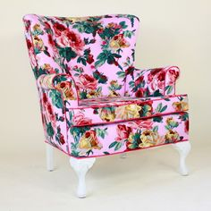 Pink Floral Ladys Chair contemporary chairs
