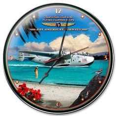 Pan Am Clipper Clock